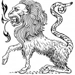 Line Drawing of a Chimera