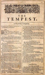 William Shakespeare, The Tempest