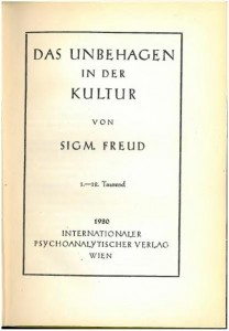 Sigmund Freud, Civilization and Its Discontents