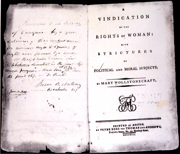 A Vindication of the Rights of Woman